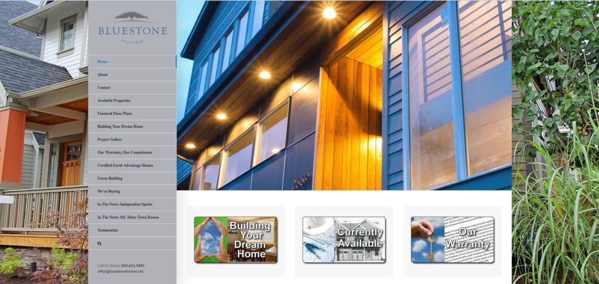 Bluestone Homes Website 2017