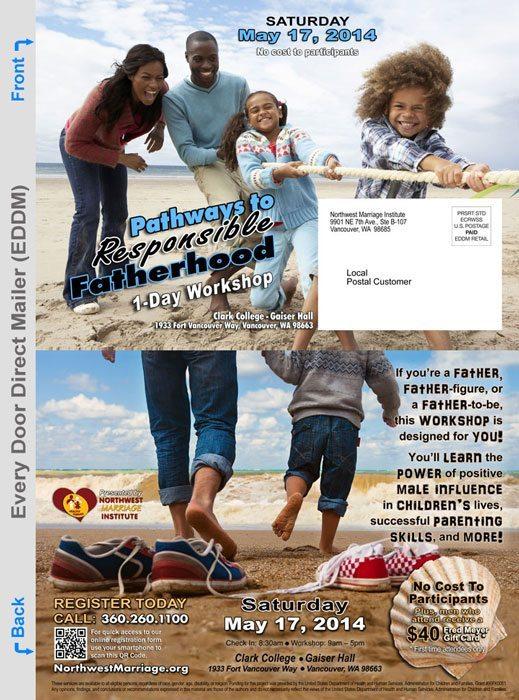 Every Door Direct Mailer Clark College Workshop Promotion