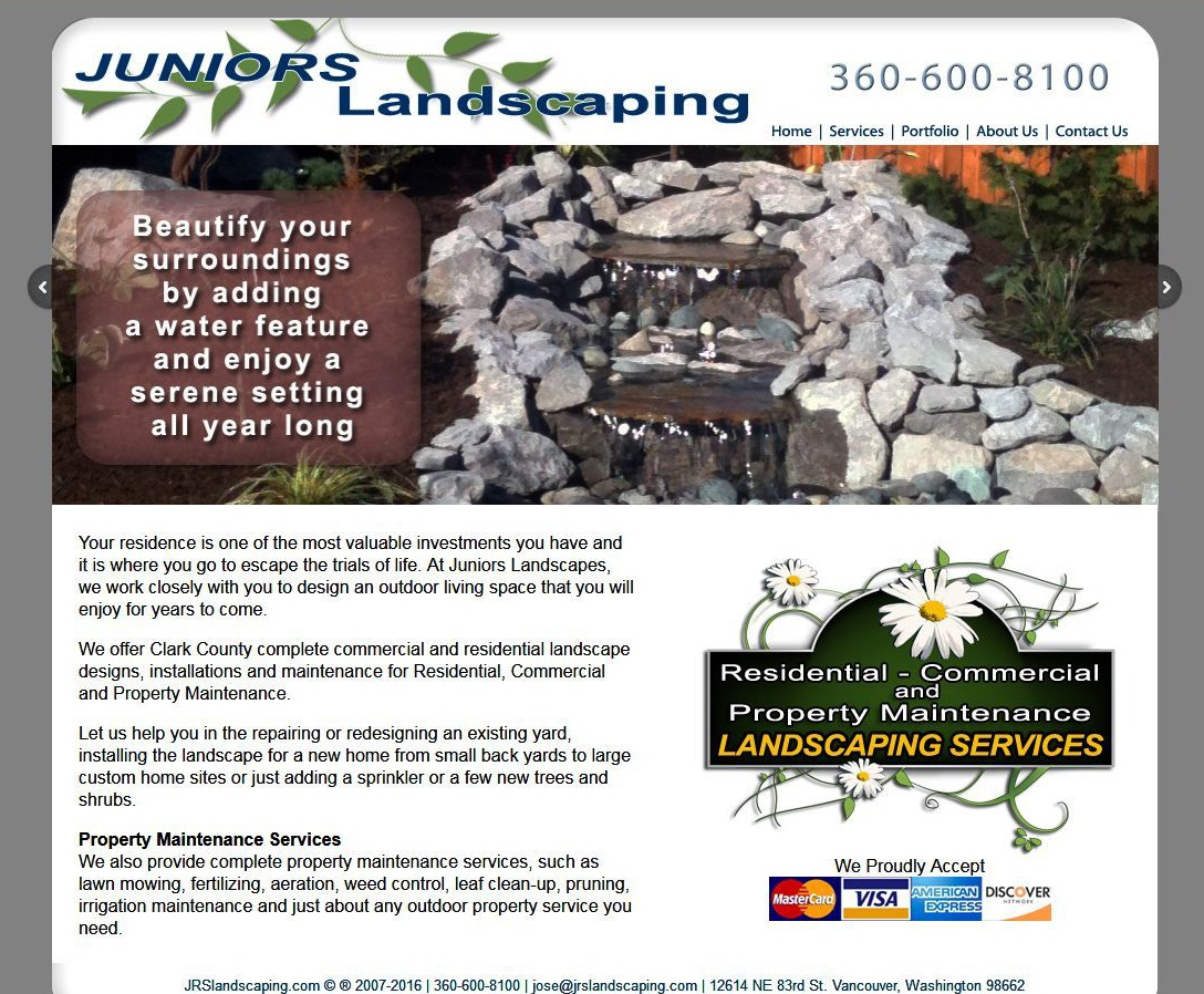 JRS Landscaping Website