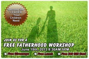 Free Father hood Workshop Promotion