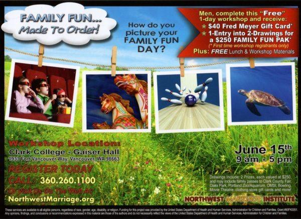Family Fun Workshop Promotion