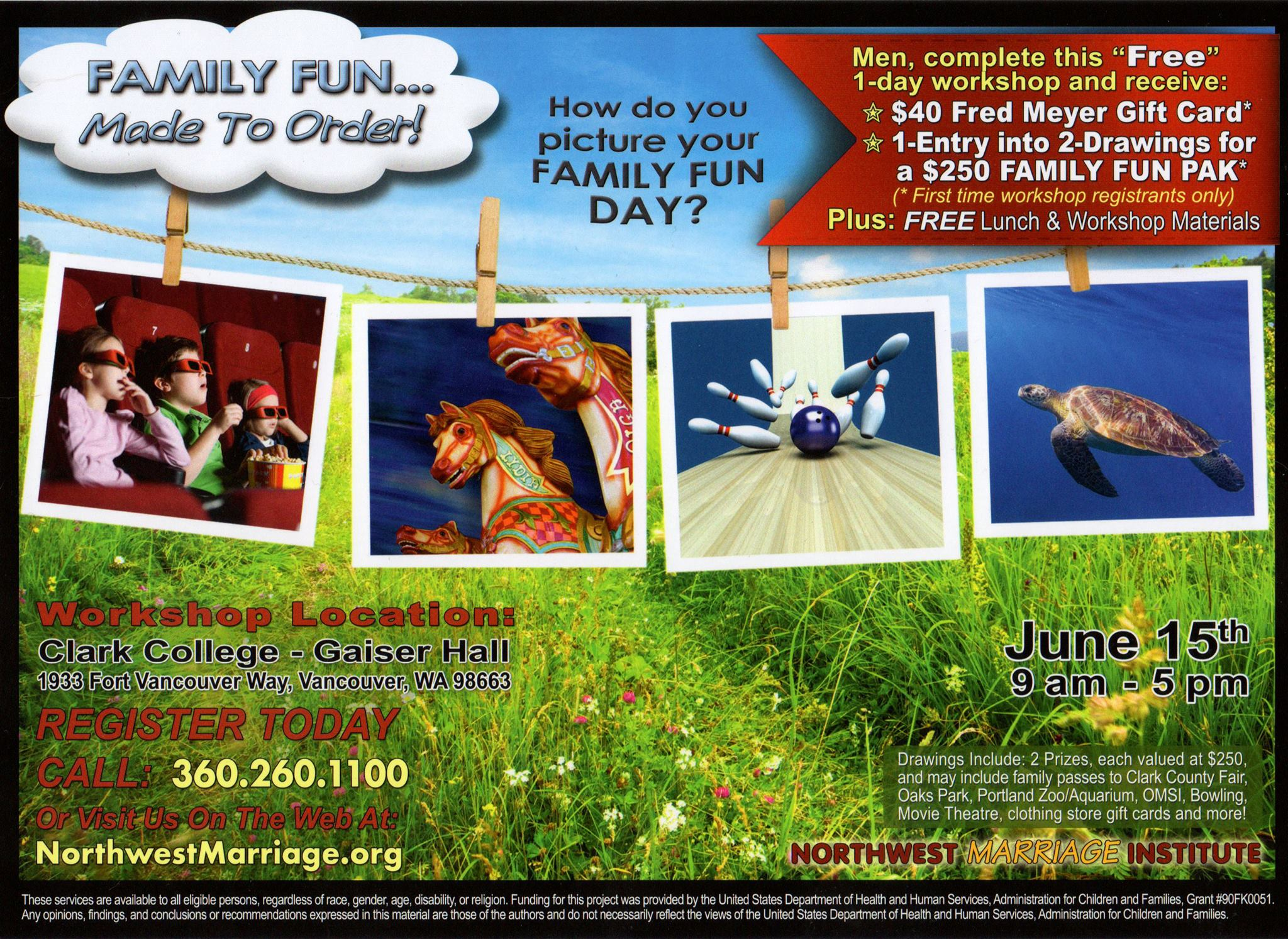 Family Fun Workshop Promotion